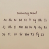 Neat Handwriting Alphabet Image