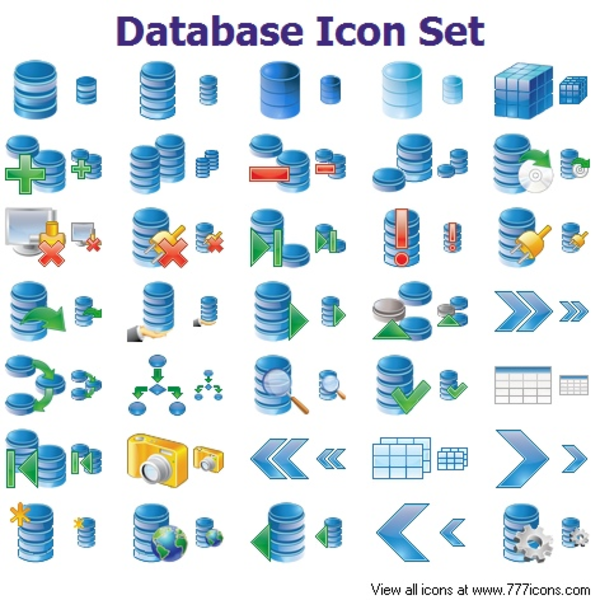 Database Icon Set | Free Images at Clker com - vector clip