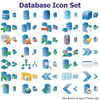 Database Icon Set Image