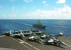 F-14  Tomcat  And F-18  Hornet  Aircraft Aboard Uss George Washington (cvn 73) Image