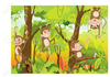 Monkey On Tree Clipart Image