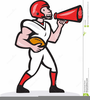 American Football Players Clipart Image