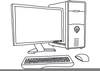 Black And White Clipart Of Computer Parts Image
