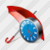 Icon Umbrella Clock Image