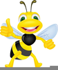 Cute Honey Bee Clipart Image