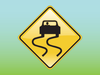 Slippery Sign Clipart Image