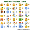 Archive Toolbar Icons Image