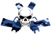 Skull In Guns Blue Camo Image