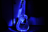 Glowing Guitar Image
