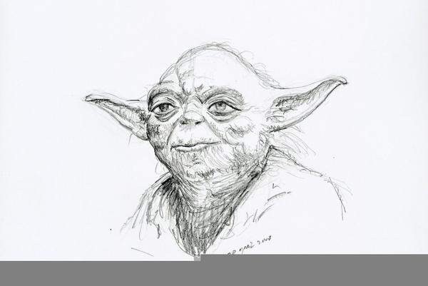 Line Drawing Yoda : Happy yoda drawing free images at clker vector clip art