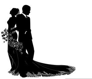 Wedding silhouette images free images at clker vector clip wedding silhouette images image junglespirit Gallery