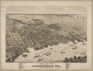 Birds Eye View Of Jacksonville, Fla. Image