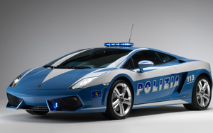 Lamborghini Gallardo Lp Police Car Wide Image