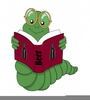 Animated Bookworm Clipart Image