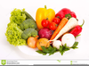 Fresh Fruit And Vegetables Clipart Image