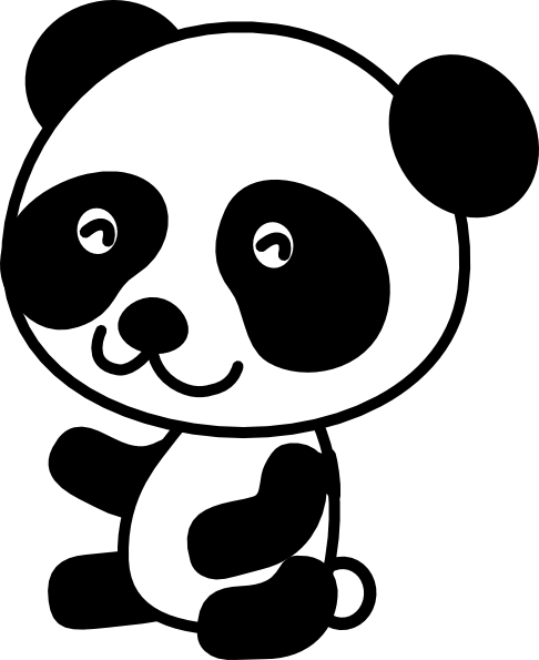 clipart panda cat - photo #33