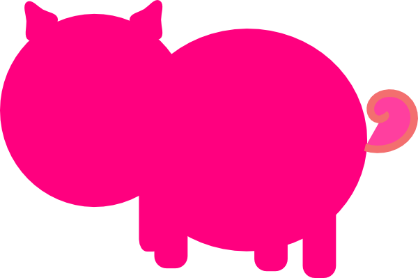 free clip art pink pig - photo #7