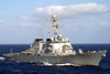 The Guided Missile Destroyer Uss Arleigh Burke (ddg 51) Steams Through The Mediterranean Sea Image