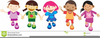 Children All Over The World Clipart Image