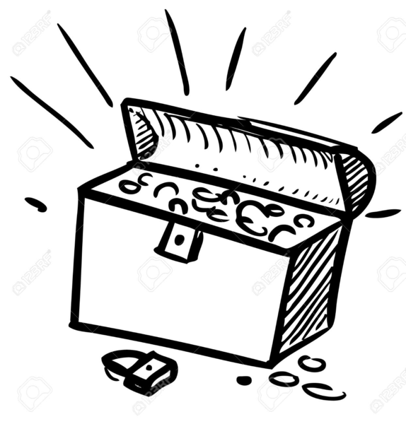 treasure chest clipart black white free images at clker com