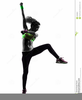 Exercising Silhouette Clipart Image