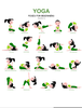 Free Yoga Postures Clipart Image