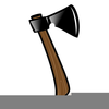 Wood Badge Axe Log Clipart Image