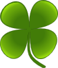 Shamrock For March Clip Art
