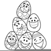 Easter Egg Coloring Clipart Image