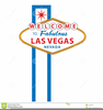 Vegas Sign Clipart Image