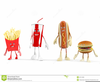 Funny Fast Food Clipart Image