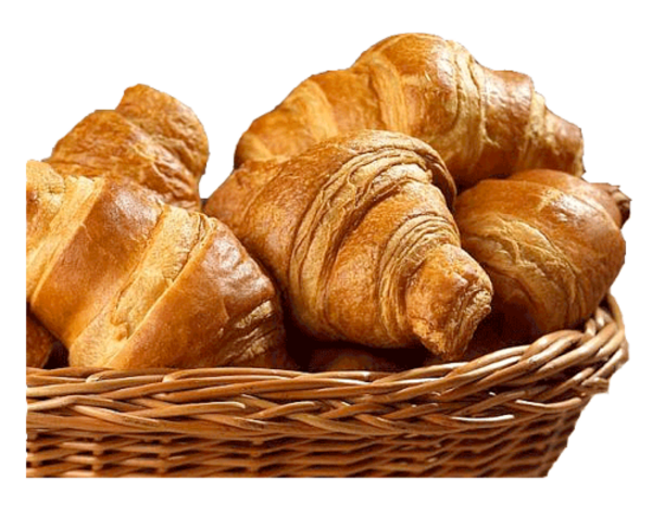 Basket With Croissants | Free Images at Clker.com - vector ...
