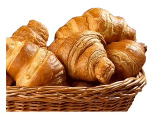Basket With Croissants Image