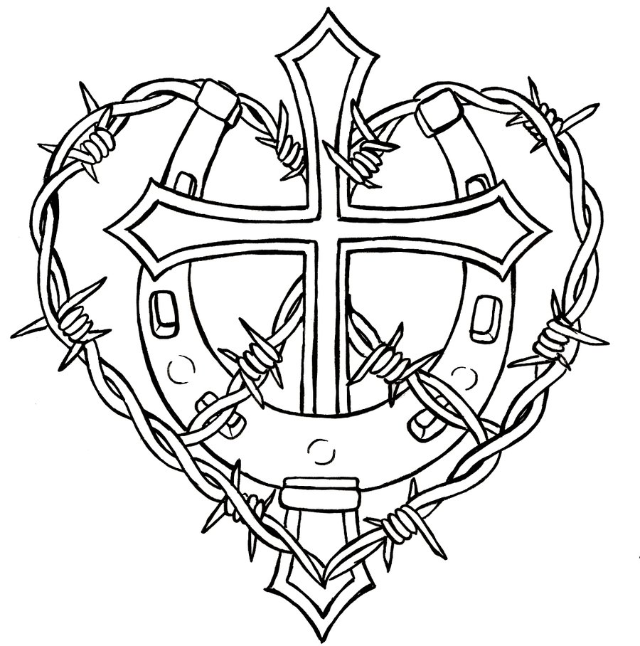 Free Coloring Pages Of Cross And Wings