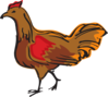 Walking Brown Chicken Clip Art