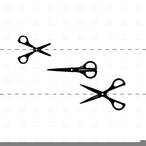 Free Clipart Scissors Cutting Dotted Line | Free Images at