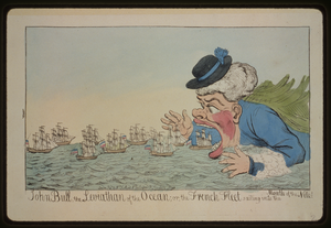 John Bull, The Leviathan Of The Ocean; Or, The French Fleet Sailing Into The Mouth Of The Nile! Image