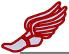 Track Winged Foot Clipart Image