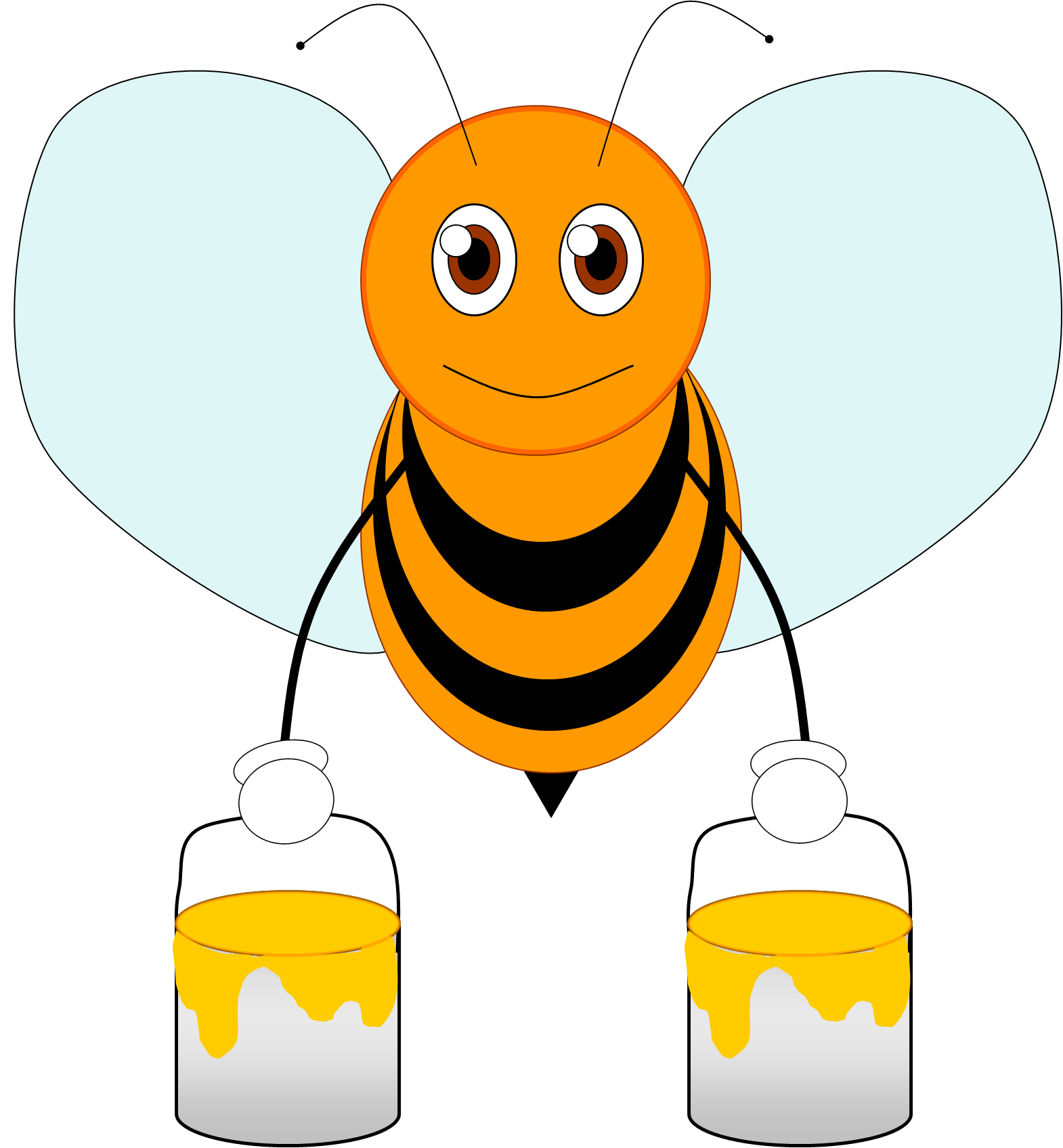 Bee 2 | Free Images at Clker.com - vector clip art online ...
