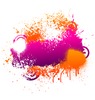 Purple And Orange Paint Splatter Vector Image