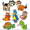 Animated Pets Clipart Image