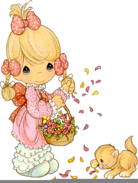 Precious Moments Baby Girl Clipart Free Images At Clker Com