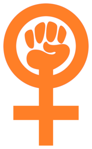 Woman Power Symbol Clenched Fist In Venus Sign Image