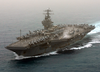 Uss Theodore Roosevelt (cvn 71) Currently Deployed, Powers Through The Mediterranean Sea Image
