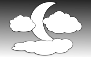 Clouds And The Moon 1 Clip Art