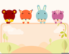 Cute Farm Animal Clipart Image