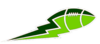 Lime Green And Green Football Lightning Big Image