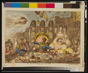 The Hand-writing Upon The Wall  / Js. Gillray Invt. & Ft. Image