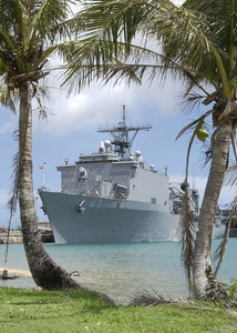 The Amphibious Dock Landing Ship Uss Ft. Mchenry (lsd 43) Crew Spends A Couple Of Days On Liberty In Guam. Image
