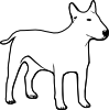 Dog Outline Clip Art